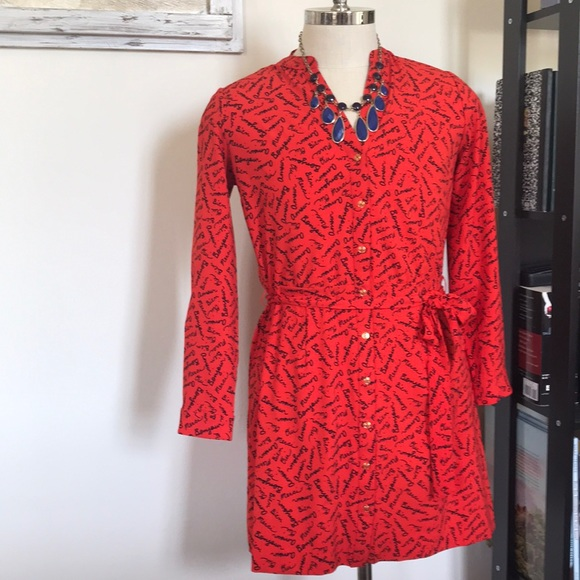 Banana Republic Dresses & Skirts - NWT French Script Shirt Dress